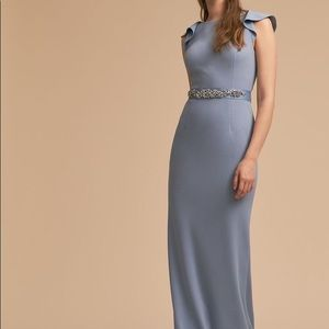 Adrianna Papell Eliot dress in dusty periwinkle